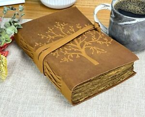 Leather Journal For Women Handmade Leatherbound Writing Notebook Deckle Edge