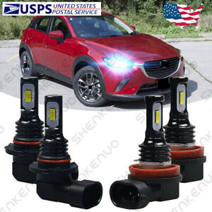 For Mazda 3 2010 2018 Mazda3 Sport Led Headlights Kit High Low Beam Bulbs Hkl