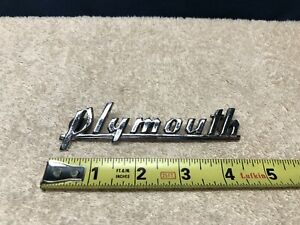 vintage oem 1939 40 Plymouth P8 p10 Deluxe Coupe Header Panel Emblem Ornament