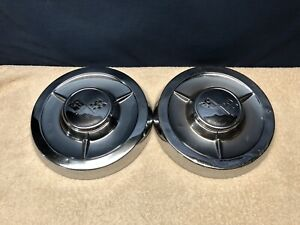 2 Oem 1958 58 Chevy Bel Air Impala Biscayne Delray Poverty Dog Dish Hubcaps