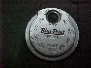 Blue Point Spark Plug Gap Gauge Fb 361