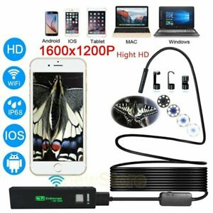 Wireless Endoscope 2 0mp Hd Snake Camera Wifi Borescope Ip67 For Iphone Android