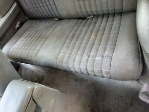 1989 87 88 89 90 91 92 93 Ford Mustang Convertible Gray Tweed Rear Seats
