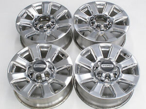 Oem Platinum 20 Ford F250 F350 Super Duty Factory Wheels Chrome Caps