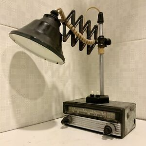 Handmade Vintage Table Scissor Lamp From 60s Steampunk Industrial