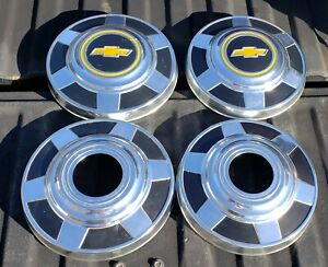 73 87 Chevy Truck K20 K30 3 4 Ton Dog Dish Hubcaps 12 4wd