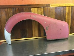 Triumph Tr2 Tr3 Original Red Right Rear Fender For Parts T1735