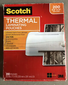 Scotch Thermal Laminating Pouches 100 pack 8 5 X 11 Inches Letter Size