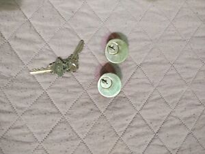 Two Schlage Mortise Cylinders Keys Alike In Brass Finish