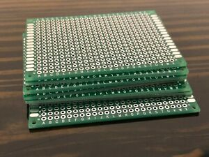 7x Double Side 5x7cm Pcb Strip Board Printed Circuit Prototype Track Lw