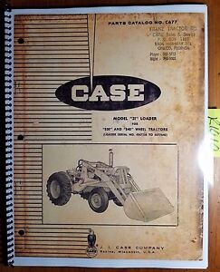 Case 31 Loader For 530 540 Wheel Tractor Parts Catalog Manual C677 10 63