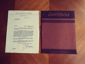 1938 Devilbiss Industrial Spray Painting Brochure Catatlog Awesome Condition
