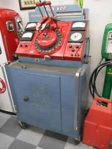 Vintage Sun Distributor Tester Model 600 Also Includes The Cabinet
