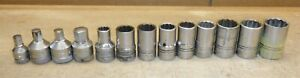 Lot Of 13 Williams Sockets 12 Are 1 2 Drive Metric Sae Hex Free Ship T06
