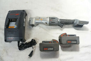 Ingersoll Rand W5330 Cordless 3 8 Right Angle Impact Wrench W 2 Batteries