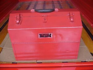 Vintage Blue Point By Snap On Cantilever Toolbox Krw48a Kenosha wis usa
