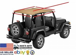 Vintage Spice Brown Acoustic Brief Soft Top 892817 Fit S 92 95 Jeep Wrangler Yj