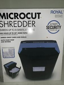 Royal 805mc Micro Cut Shredder up To 8 Sheets Auto Start stop reverse