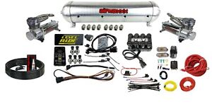Level Ride Pressure W airmaxxx Chrome 480 Air Management Kit Complete Spun Tank