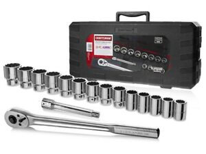 Craftsman 46304 16 Pc 3 4 Drive Socket Wrench Set With Case Sae Inch
