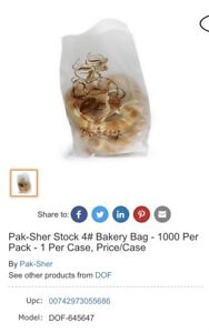Pak sher Bakery Bags 1000 Count