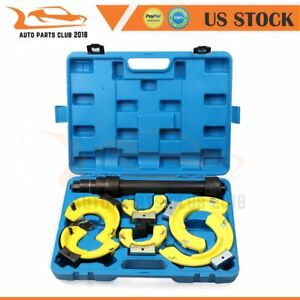 For Macpherson Strut Spring Compressor Interchangeable Fork Coil Extractor Kit
