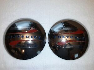2 Vintage Blc 1940 s Chevrolet Wheel Covers Dog Dish 10 Inch Hubcaps