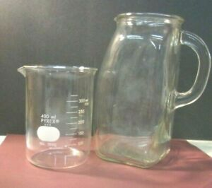 Vintage Pyrex 4000ml Model No1000 Glass Beaker Scientific Unusual Pitcher