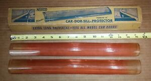 Old Tinted Orange Red Plastic 40 S 50 S Door Garnish Sill Protector Pair Chevy