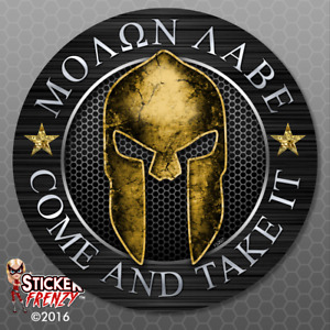 Molon Labe Spartan Circle Sticker Car Truck Window Vinyl Decal Usa Fs207
