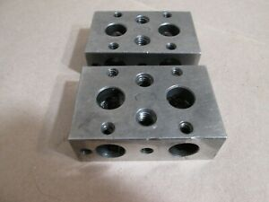 Moore Tools 1 2 3 Setup Blocks Set Of Two Nice
