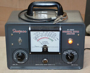 Simpson Model 382 In circuit Tv Horizontal System Analyzer And Capacitor Tester