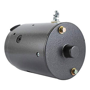 New 12v Snow Plow Motor Fits Boss Snow Plows W Ball Bearing On Drive End W 8984