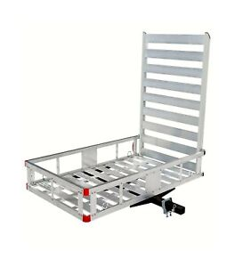 Maxxhaul 80779 Aluminum Hitch Mount Cargo Carrier With 47 Long Ramp 1 Pack