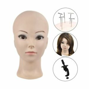 Female Professional Cosmetology Bald Mannequin Head For Making Wigs Displayi