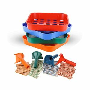 Coin Counters Tubes Coin Sorters Tray 4 Color coded Coin Sorting Tray And
