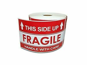 3 X 5 This Side Up Arrow Handle With Care Warning Shipping Labels 1 Rol