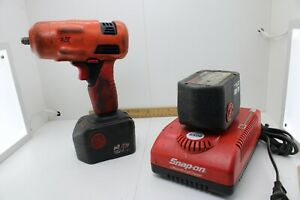 Snap On Ct4410 3 8 Cordless Impact Wrench W 2 Batteries Charger Good Cond