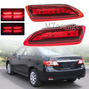 Led Rear Bumper Reflector Brake Lights For Toyota Corolla Lexus 2011 2012 2013