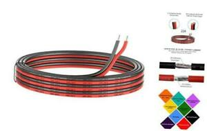 22 Gauge Silicone Electric Wire 33ft 22awg Flexible 2 Conductor 22awg