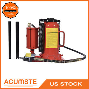 Air Hydraulic Bottle Jack 20 Ton Manual 40000lb Heavy Duty Auto Truck Repair Us