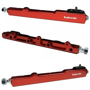 Red High Flow Fuel Rail For Honda Civic And Acura Integra B Series Only