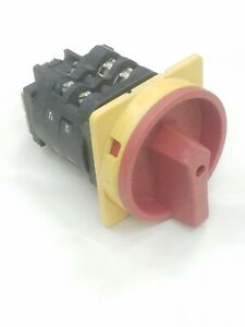Moeller Rotary Cam Switch T4a 2 1 ea svb Principal Disconnect 3 Phase 40hp 600v
