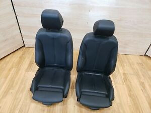 12 18 Oem Bmw F30 F34 F36 Front Left Right Sport Seats Black Leather W O Heated