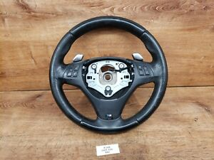 07 13 Oem Bmw E82 E90 E92 M Sport Steering Wheel Black Perforated Leather Wear