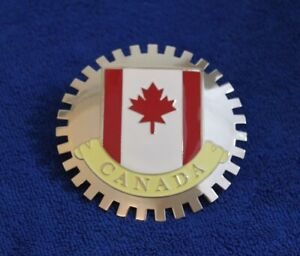 Canada Canadian Grille Badge License Plate Topper Accessory Flag Maple Leaf