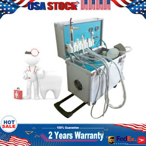 Dental Portable Delivery Unit led Curing Lamp weak Suction ultrasonic Scaler Kit