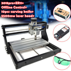 Cnc 3018pro Router 5500mw Laser Engraving Pcb Wood Milling Offline Control Us