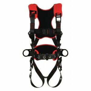 3m Protecta 1161227 Full Body Harness Vest Style M l Polyester Black