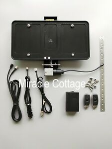 Remote Controlled Electric Retractable License Plate Frame Bracket Show N Go Kit